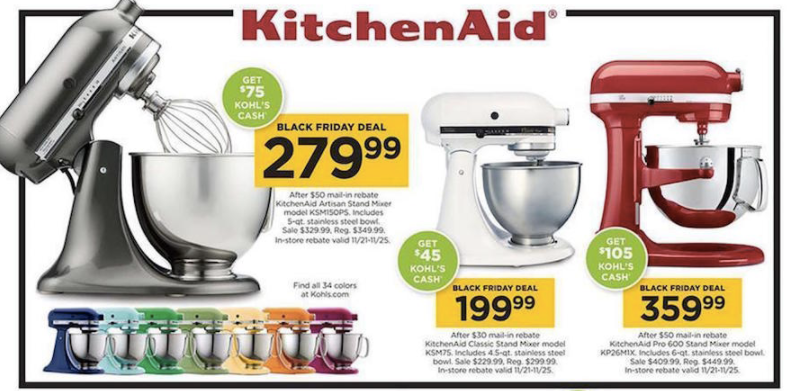 expired kohl s kitchenaid mixer new lower price 109. Black Bedroom Furniture Sets. Home Design Ideas